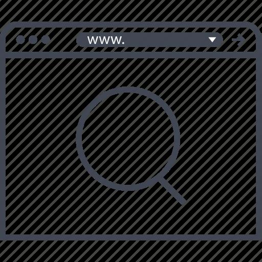 find, internet, search icon