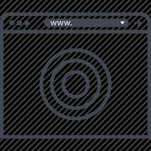 find, internet, target icon
