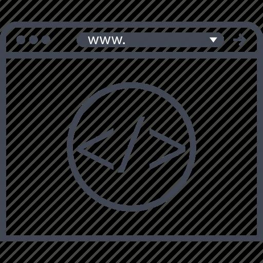 browser, internet, line, web icon