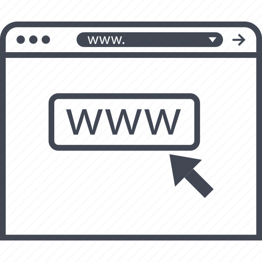 click, internet, visit, www icon