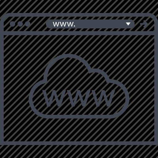 cloud, website, www icon