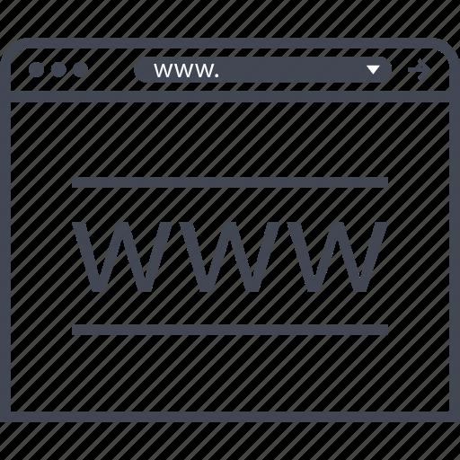 mockup, wireframe, www icon