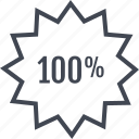 data, hundred, one, tag icon