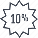data, percent, tag, ten icon