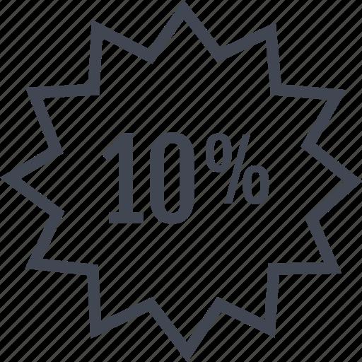 data, percent, tag, ten icon