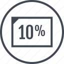 data, page, percent, ten icon