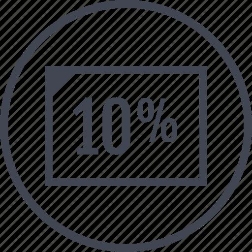 data, page, percent, ten icon