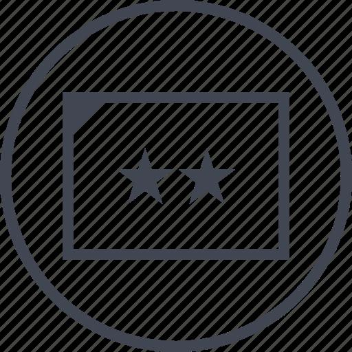 data, info, stars, two icon