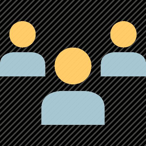 avatar, profile, three, users icon