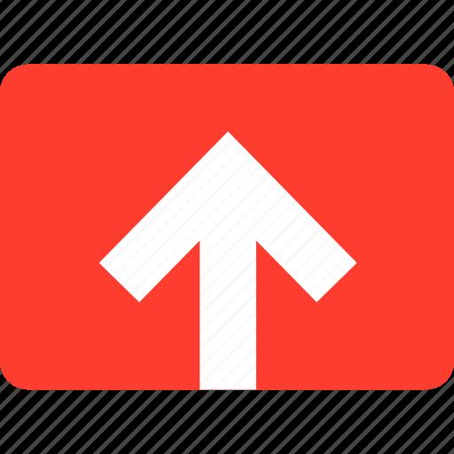 media, up, upload, video icon