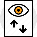 activity, everyday, everydayuse, eye, online, page icon