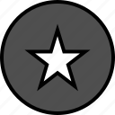 activity, everyday, everydayuse, online, star icon