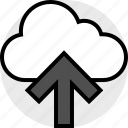activity, cloud, everyday, everydayuse, online, up icon