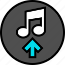 activity, everyday, everydayuse, music, online, up icon