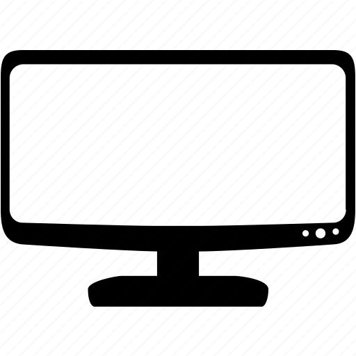 computer, desktop monitor, display, monitor, screen, video monitor icon