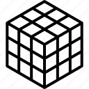 cube, puzzle, rubics, rubik's, rubiks icon