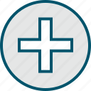 add, cross, more, plus, sign icon