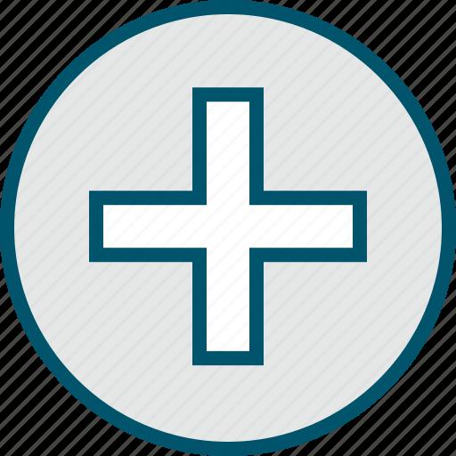 add, cross, more, plus, sign icon