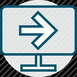 arrow, go, next, pc icon