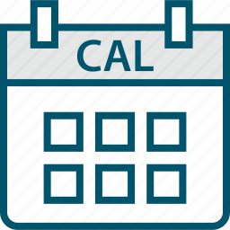 cal, calendar, event, schedule icon