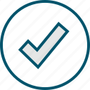 checkmark, good, ok, safe icon