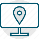 direction, gps, pc, pin icon