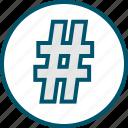 hashtag, pound, sign, twitter icon
