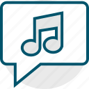 bubble, chat, music, note icon
