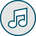 music, note, now, play icon