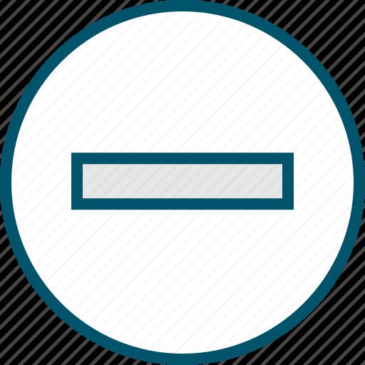 line, negative, neutral, sign icon