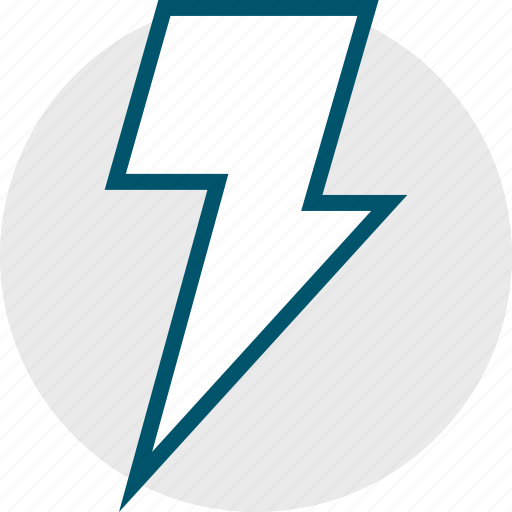 fast, lightning, power, shock icon