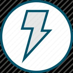 fast, light, lightning, power icon