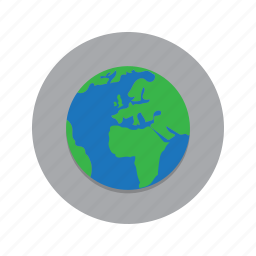 earth, globe, planet, terra nova, world icon