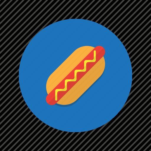 fastfood, food, hotdog, junk, sausage, snak icon
