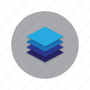 floors, layer, layers, levels, stack icon