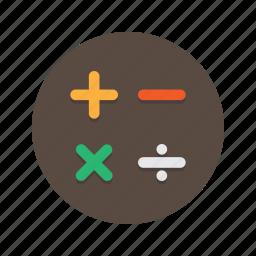 add, education, math, mathematics, maths, minus, plus icon