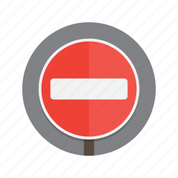 entry, no, no entry, road, roadsign, sign icon
