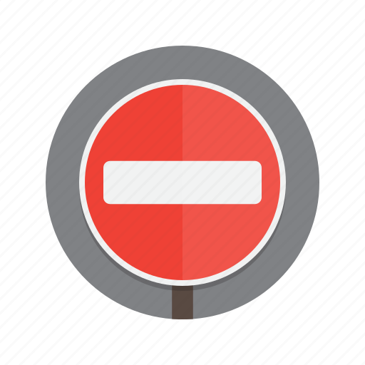 entry, no, no entry, road, roadsign, sign icon