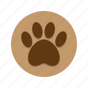animal, dog, nature, paw, paw print, tracks, wildlife icon