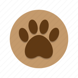 animal, dog, nature, paw, paw print, tracks, wildlife icon