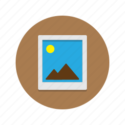 image, jpg, landscape, photo, picture, polaroid icon