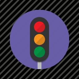 amber, go, green, light, lights, roads, traffic icon