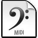 z, file, midi icon
