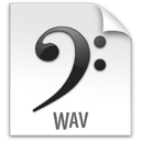 file, wav, z icon