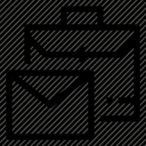 business, job, letter, office, portfolio, work icon