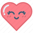 emoji, emojis, face, heart, hearts, love, valentines icon