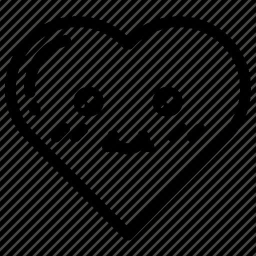 emoji, emojis, face, heart, hearts, love, valentines icon