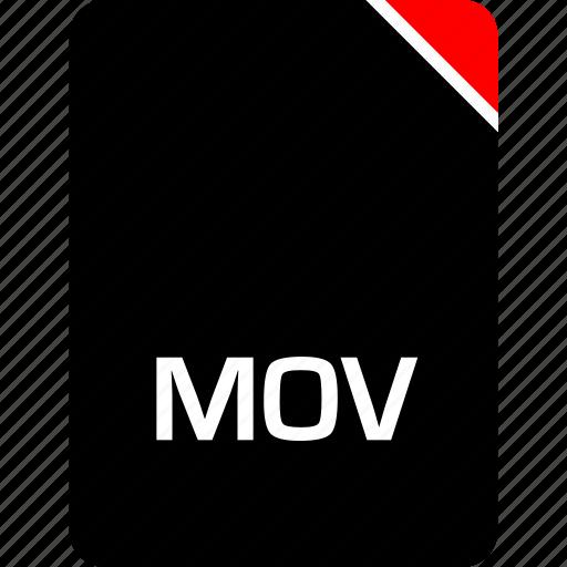 file, mov, name icon