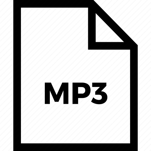 document, extension, format, mp3, type icon