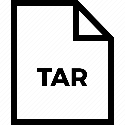 document, extension, format, tar, type icon